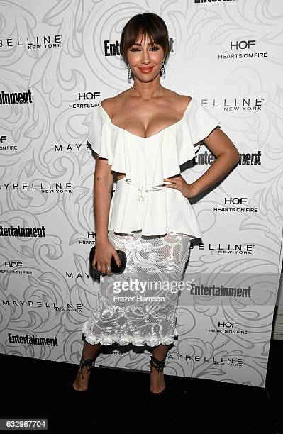 Actor Jackie Cruz attends the Entertainment Weekly Celebration of SAG Award Nominees sponsored by Maybelline New York at Chateau Marmont on January...