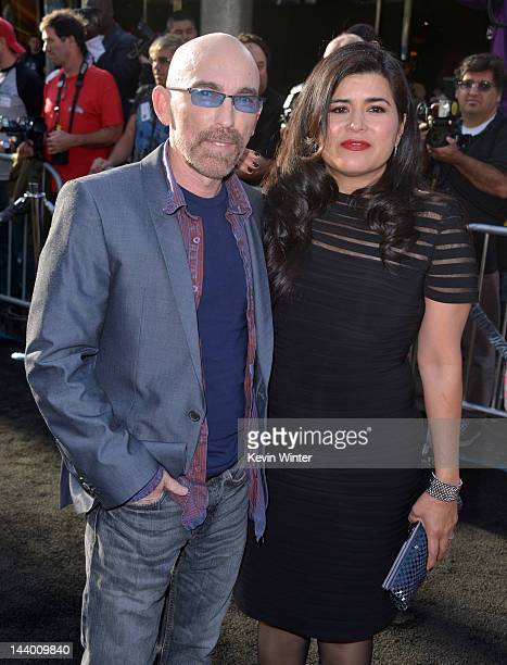 Actor Jackie Earle Haley and Amelia Cruz arrive at the premiere of Warner Bros Pictures' Dark Shadows at Grauman's Chinese Theatre on May 7 2012 in...
