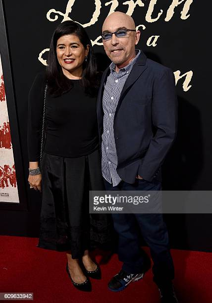 Actor Jackie Earle Haley and Amelia Cruz attend the premiere of Fox Searchlight Pictures' The Birth of a Nation at ArcLight Cinemas Cinerama Dome on...