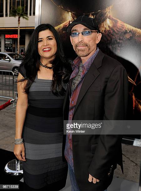Actor Jackie Earle Haley and his wife Amelia Cruz arrive at the premiere of New Line's A Nightmare on Elm Street at the Chinese Theater on April 27...