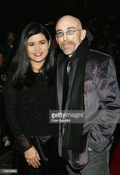 Actor Jackie Earle Haley and his wife Amelia Cruz attend the 72nd Annual New York Film Critics Circle Awards Gala at Supper Club January 7 2007 in...