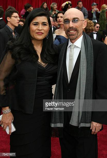 Actor Jackie Earle Haley and wife Amelia Cruz attend the 79th Annual Academy Awards held at the Kodak Theatre on February 25 2007 in Hollywood...
