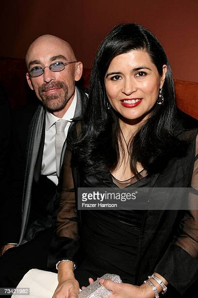 Actor Jackie Earle Haley and wife Amelia Cruz attend the Governor's Ball after the 79th Annual Academy Awards at The Highlands on February 25 2007 in...