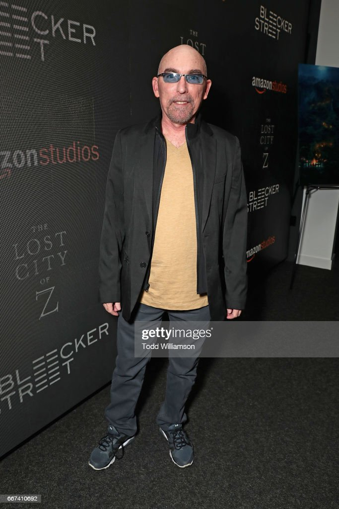 Actor Jackie Earle Haley attends the Amazon Studios and Bleecker Street special screening with Explorer's Club of James Gray's THE LOST CITY OF Z on April 11, 2017 in New York City.