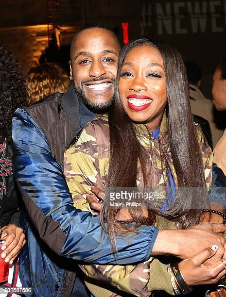 Actor Jackie Long and singer Estelle attend the after party for BET's The New Edition Story on January 23 2017 in Los Angeles California