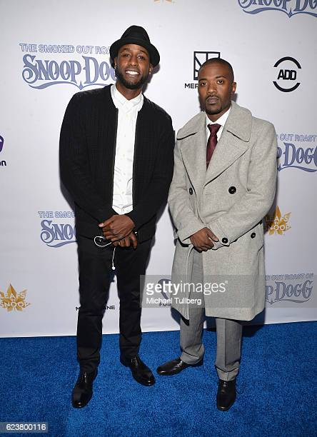Actor Jackie Long and singer RayJ attend Fusion's All Def Roast The Smoked Out Roast Of Snoop Dogg at Avalon Hollywood on November 16 2016 in Los...