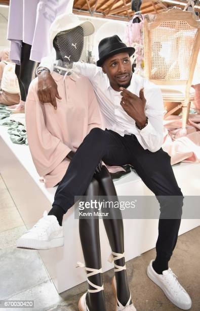 Actor Jackie Long at the FENTY PUMA by Rihanna Experience on April 18 2017 in Los Angeles California