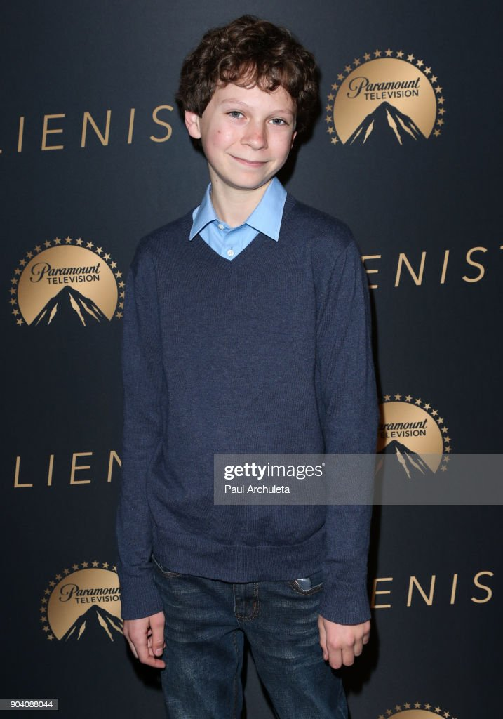 Actor Jackson Gann attends the premiere of TNT's 'The Alienist' at The Paramount Lot on January 11, 2018 in Hollywood, California.
