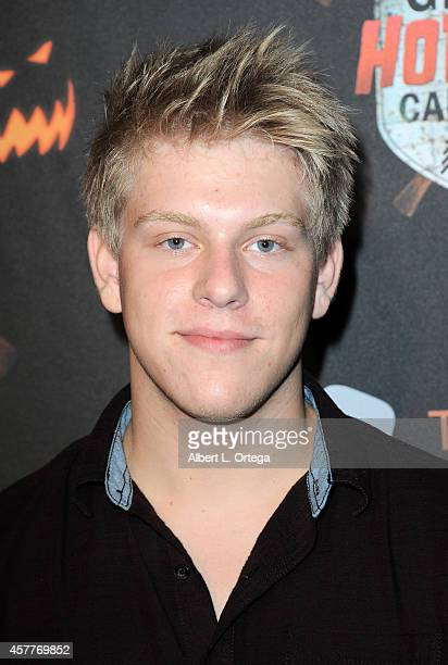 Actor Jackson Odell arrives for the Los Angeles Haunted Hayride held at Griffith Park on October 9 2014 in Los Angeles California