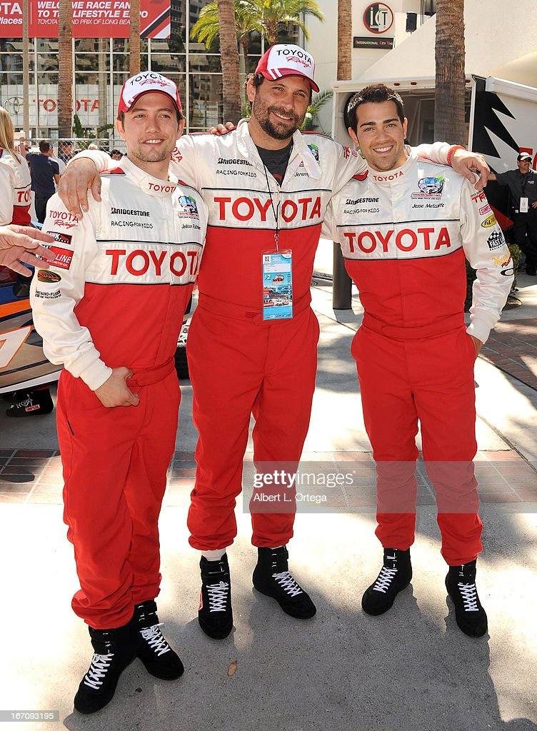 Actor Jackson Rathbone, actor Jeremy Sisto and actor Jesse Metcalfe participate in the 37th Annual Toyota Pro/Celebrity Race - Qualifying Day held on April 19, 2013 in Long Beach, California.
