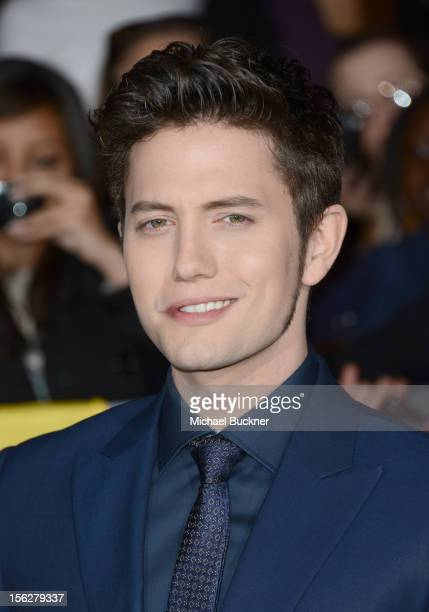Actor Jackson Rathbone arrives at the premiere of Summit Entertainment's 'The Twilight Saga Breaking Dawn Part 2' at Nokia Theatre LA Live on...