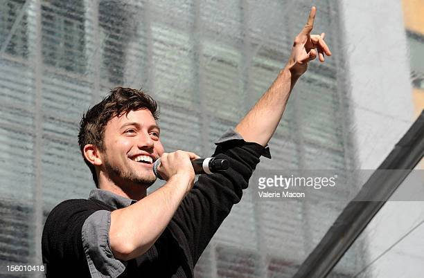 Actor Jackson Rathbone attends 'The Twilight Saga Breaking Dawn Part 2' Fan Camp Concert at Nokia Theatre LA Live on November 10 2012 in Los Angeles...