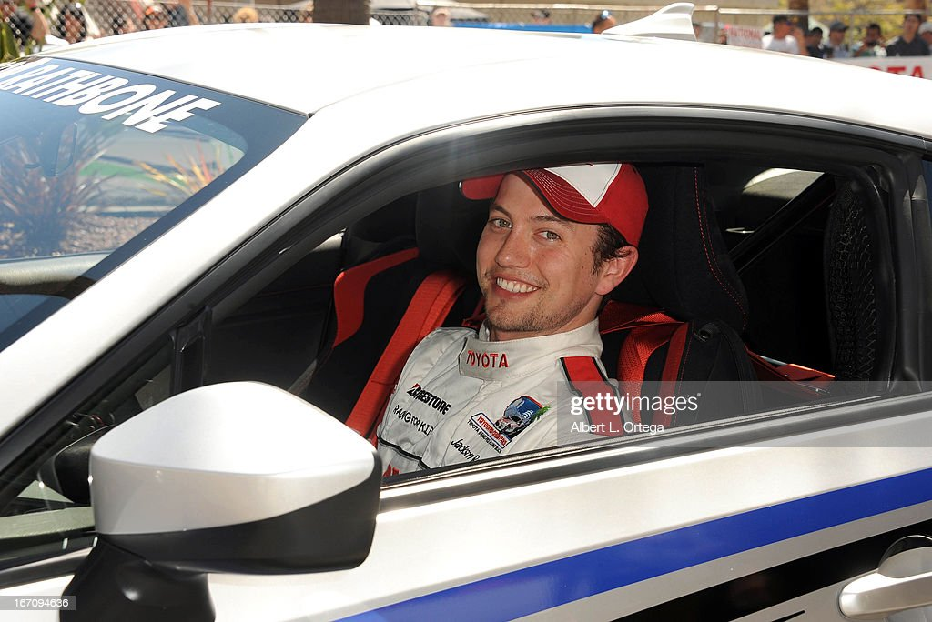 Actor Jackson Rathbone participates in the 37th Annual Toyota Pro/Celebrity Race - Qualifying Day held on April 19, 2013 in Long Beach, California.