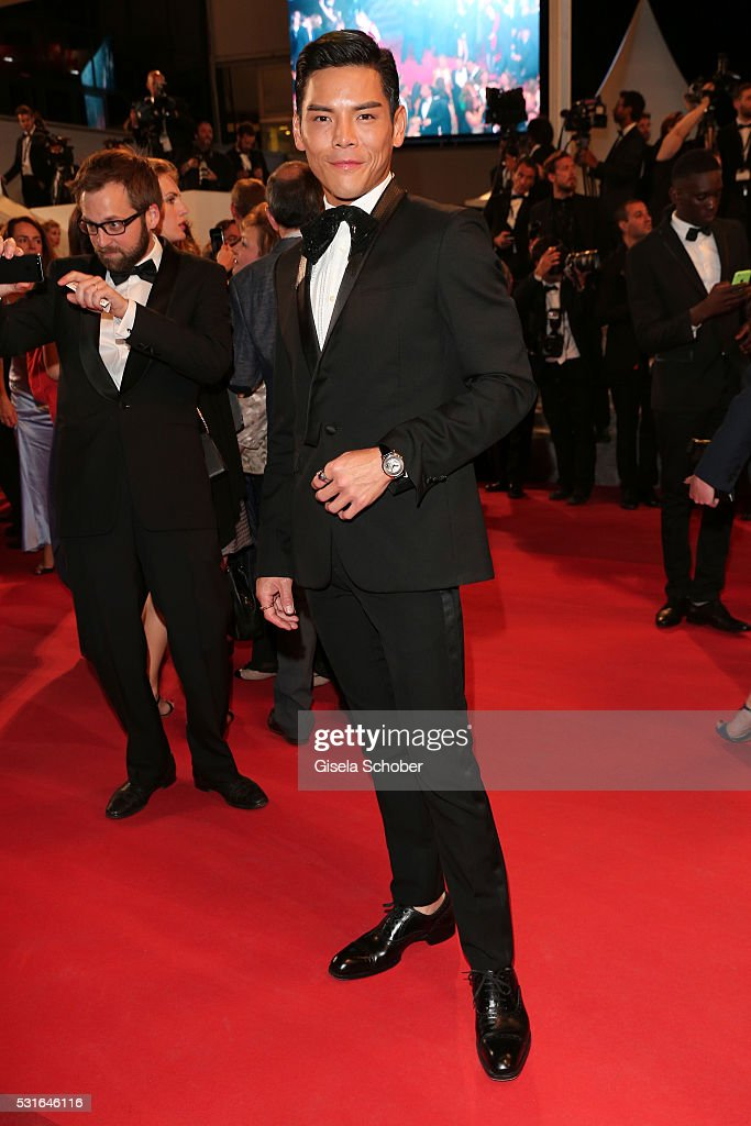 Actor Jacky Heung attends 'The Nice Guys' premiere during the 69th annual Cannes Film Festival at the Palais des Festivals on May 15, 2016 in Cannes, France.