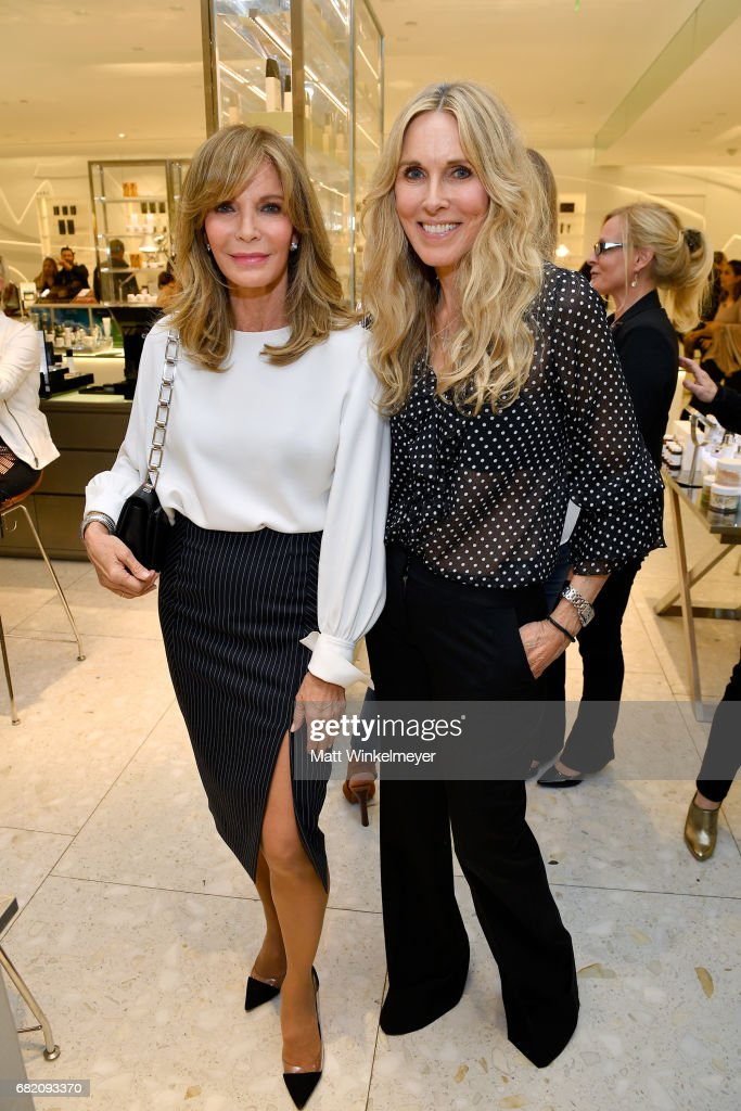 Actor Jaclyn Smith (L) and host Alana Stewart attend Barneys New York Celebration of the Farrah Fawcett Foundation at Barneys New York Beverly Hills on May 11, 2017 in Beverly Hills, California.