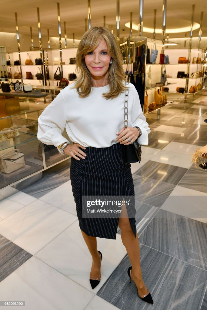 Actor Jaclyn Smith attends Barneys New York Celebration of the Farrah Fawcett Foundation at Barneys New York Beverly Hills on May 11, 2017 in Beverly Hills, California.