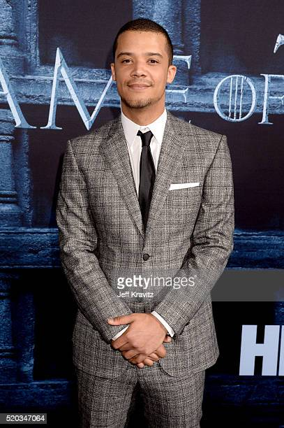 Actor Jacob Anderson attends the premiere for the sixth season of HBO's 'Game Of Thrones' at TCL Chinese Theatre on April 10 2016 in Hollywood City