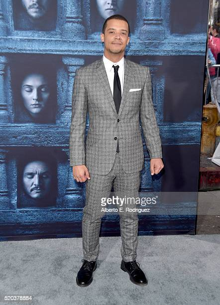 Actor Jacob Anderson attends the premiere of HBO's 'Game Of Thrones' Season 6 at TCL Chinese Theatre on April 10 2016 in Hollywood California