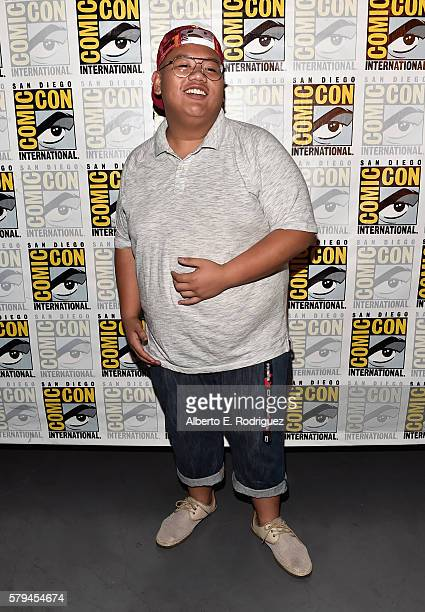 "Actor Jacob Batalon from Marvel Studios' SpiderMan Homecoming"" attends the San Diego ComicCon International 2016 Marvel Panel in Hall H on July 23..."