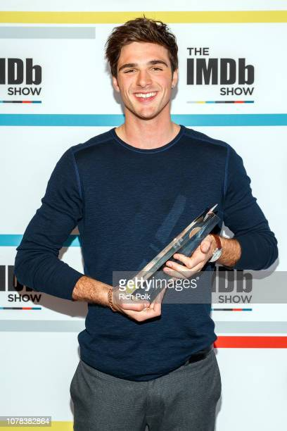 Actor Jacob Elordi receives the IMDb STARmeter Award in the 'Breakout Category' on the set of 'The IMDb Show' on November 27 2018 in Studio City...