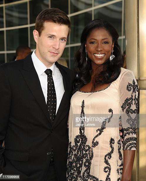 Actor Jacob Fishel and actress Rutina Wesley attend the premiere of HBO's 'True Blood' at ArcLight Cinemas Cinerama Dome on June 21 2011 in Hollywood...