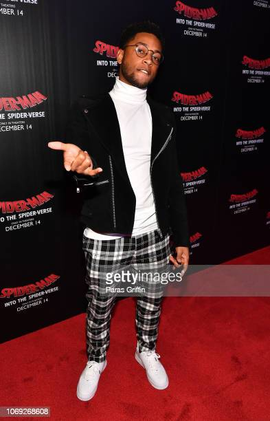 Actor Jacob Latimore attends 'Spiderman Into The SpiderVerse' Atlanta screening at Regal Atlantic Station on December 6 2018 in Atlanta Georgia