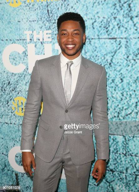 Actor Jacob Latimore attends the premiere of Showtime's 'The Chi' at Downtown Independent on January 3 2018 in Los Angeles California