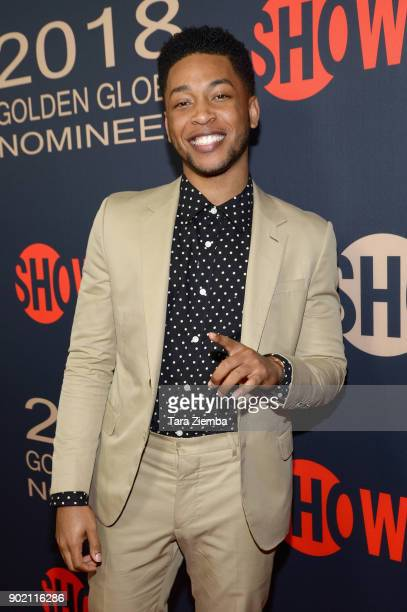 Actor Jacob Latimore attends the Showtime Golden Globe Nominees Celebration at Sunset Tower on January 6 2018 in Los Angeles California