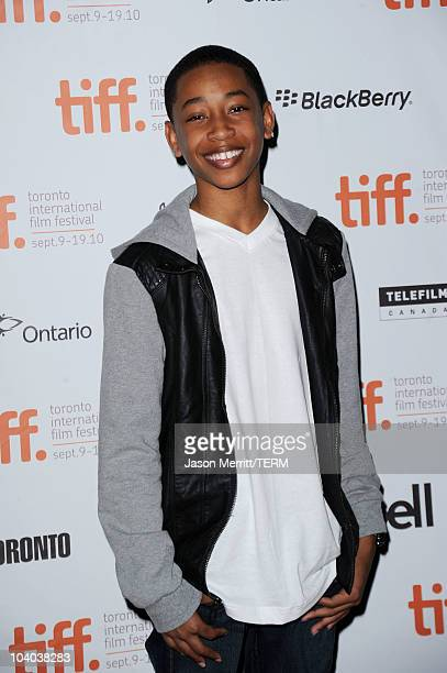 Actor Jacob Latimore attends the Vanishing On 7th Street Premiere at Ryerson Theatre during the Toronto International Film Festival on September 12...