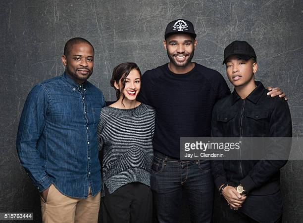 Actor Jacob Latimore director JD Dillard and actors Seychelle Gabriel and Dule Hill from the film 'Sleight' pose for a portrait at the 2016 Sundance...