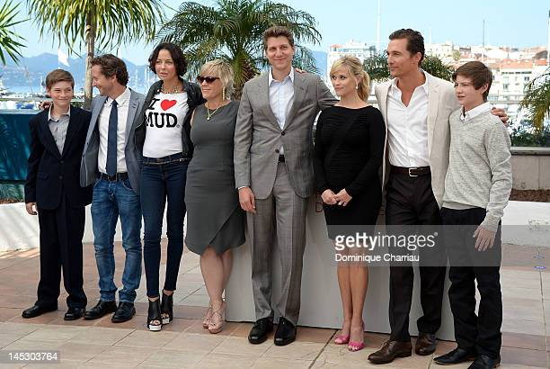 Actor Jacob Lofland producers Aaron Ryder Lisa Maria Falcone Sarah Green director Jeff Nichols actors Reese Witherspoon Matthew McConaughey and Tye...