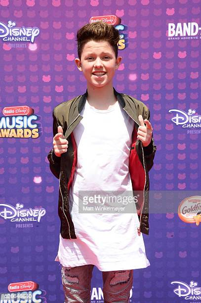 Actor Jacob Sartorius attends the 2016 Radio Disney Music Awards at Microsoft Theater on April 30 2016 in Los Angeles California