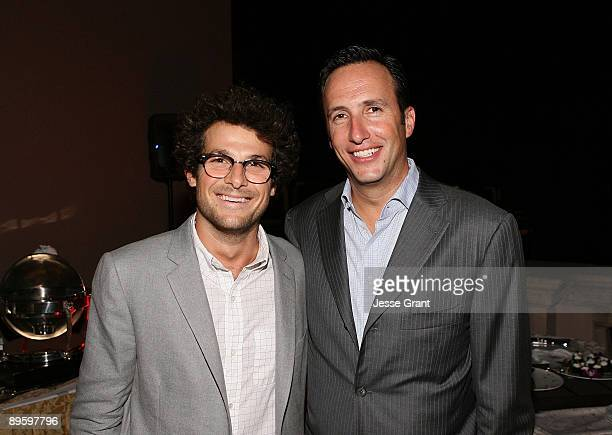 Actor Jacob Soboroff and AMC president and general manager Charlie Collier attend the 2009 TCA AMC cocktail reception at The Langham Huntington Hotel...