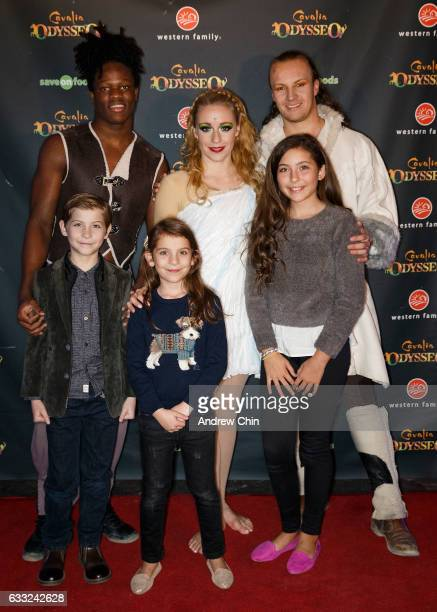 Actor Jacob Tremblay actress Erica Tremblay and actress Emma Tremblay artist Mohamed Conte artist Karolina Melska and artist Keith DuPont attend the...