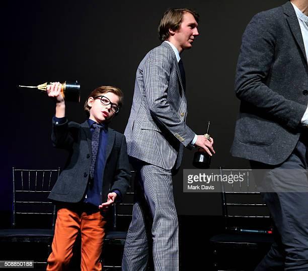 Actor Jacob Tremblay and Actor Paul Dano receive the Virtuosos Award at the Arlington Theater at the 31th Santa Barbara International Film Festival...