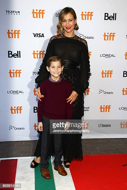 Actor Jacob Tremblay and actor Vera Farmiga attend the Burn Your Maps premiere held at Ryerson Theatre during the Toronto International Film Festival...