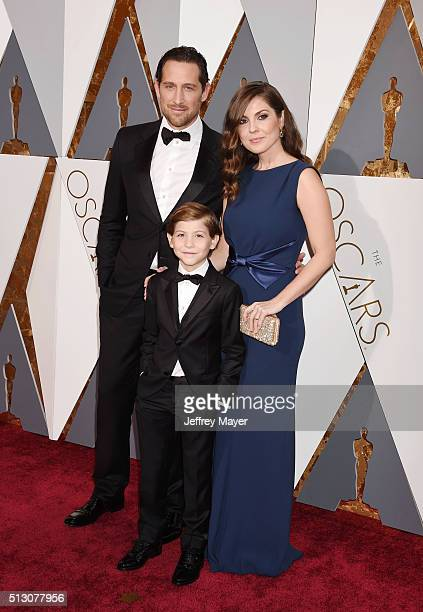 Actor Jacob Tremblay and family arrive at the 88th Annual Academy Awards at Hollywood Highland Center on February 28 2016 in Hollywood California