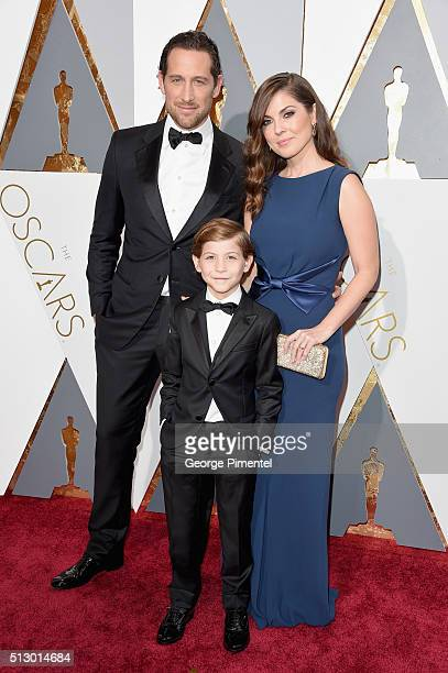 Actor Jacob Tremblay and family attends the 88th Annual Academy Awards at Hollywood Highland Center on February 28 2016 in Hollywood California