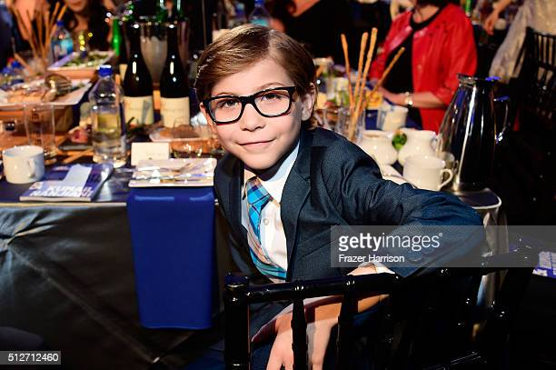 Actor Jacob Tremblay attends the 2016 Film Independent Spirit Awards on February 27 2016 in Santa Monica California