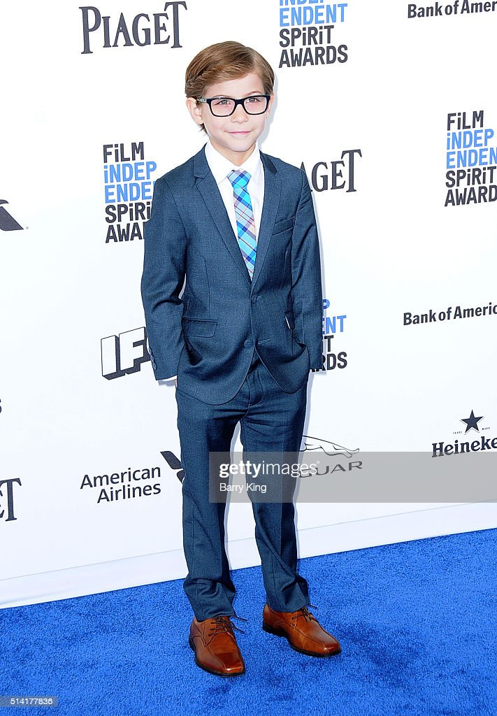 Actor Jacob Tremblay attends the 2016 Film Independent Spirit Awards on February 27, 2016 in Santa Monica, California.