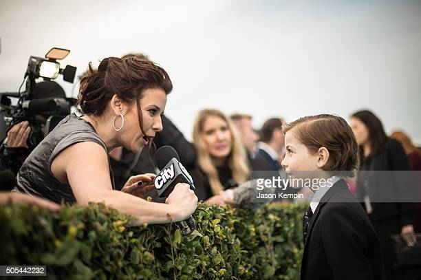 Actor Jacob Tremblay attends the 21st Annual Critics' Choice Awards at Barker Hangar on January 17 2016 in Santa Monica California