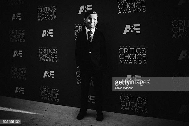 Actor Jacob Tremblay attends the 21st annual Critics' Choice Awards at Barker Hangar on on January 17, 2016 in Santa Monica, California.