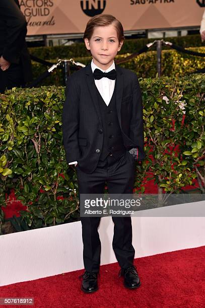 Actor Jacob Tremblay attends the 22nd Annual Screen Actors Guild Awards at The Shrine Auditorium on January 30 2016 in Los Angeles California