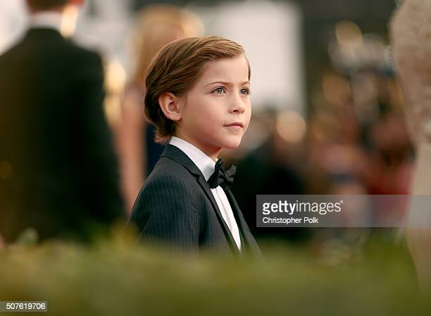 Actor Jacob Tremblay attends The 22nd Annual Screen Actors Guild Awards at The Shrine Auditorium on January 30 2016 in Los Angeles California...