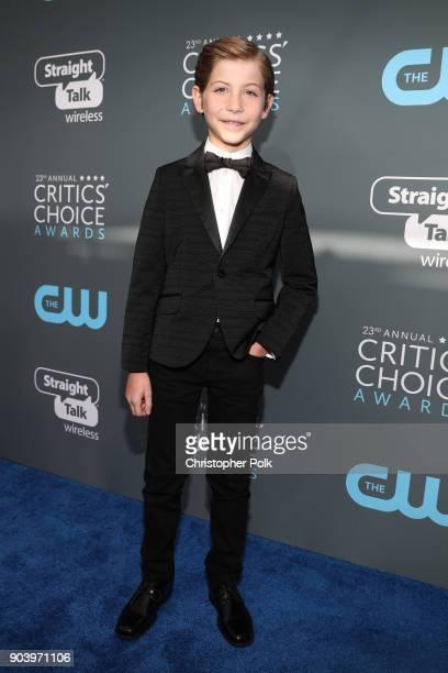 Actor Jacob Tremblay attends The 23rd Annual Critics' Choice Awards at Barker Hangar on January 11, 2018 in Santa Monica, California.