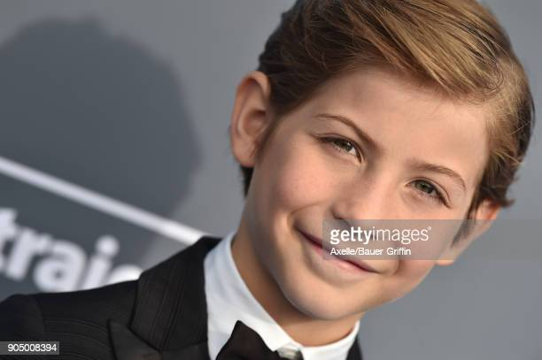 Actor Jacob Tremblay attends the 23rd Annual Critics' Choice Awards at Barker Hangar on January 11 2018 in Santa Monica California