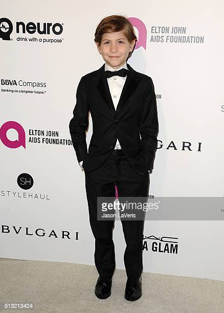 Actor Jacob Tremblay attends the 24th annual Elton John AIDS Foundation's Oscar viewing party on February 28, 2016 in West Hollywood, California.