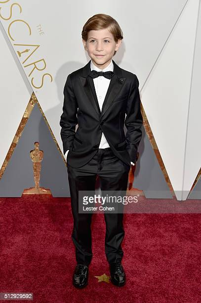 Actor Jacob Tremblay attends the 88th Annual Academy Awards at Hollywood Highland Center on February 28 2016 in Hollywood California