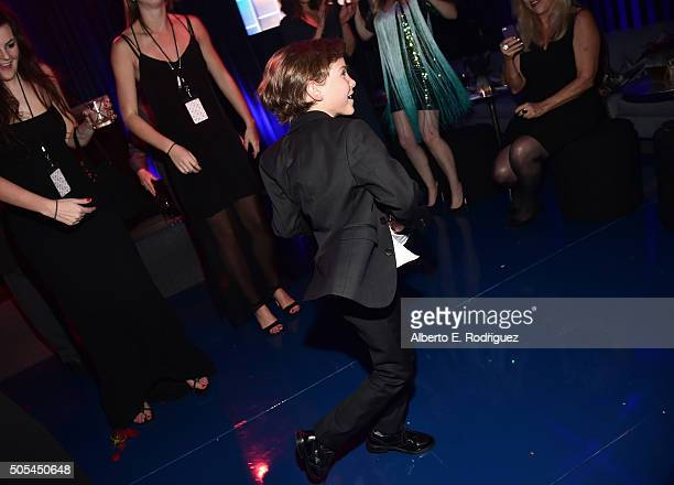 Actor Jacob Tremblay attends the after party for the 21st Annual Critics' Choice Awards at Barker Hangar on January 17 2016 in Santa Monica California
