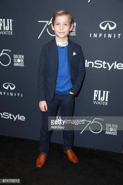 Actor Jacob Tremblay attends the Hollywood Foreign Press Association and InStyle celebrate the 75th Anniversary of The Golden Globe Awards at Catch...